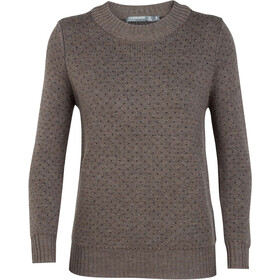 Icebreaker Waypoint Crewe Sweater Women toast heather